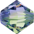 Swarovski Crystal Beads 6mm bicone 5328 provence lavender chrysolite blend transparent
