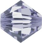 Swarovski Crystal Beads 6mm bicone (5301 and 5328) provence lavender transparent