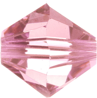 Image Swarovski Crystal Beads 6mm bicone 5328 light rose (light pink) transparent