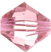 Swarovski Crystal Beads 6mm bicone 5328 light rose (light pink) transparent
