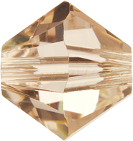 Image Swarovski Crystal Beads 6mm bicone 5328 silk (light peachy pink) transparent