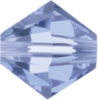 Image Swarovski Crystal Beads 6mm bicone 5328 light sapphire (pale blue) transparent