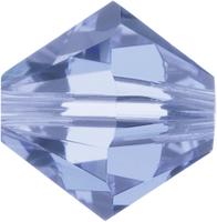 Swarovski Crystal Beads 6mm bicone 5328 light sapphire (pale blue) transparent