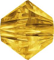 Swarovski Crystal Beads 6mm bicone 5328 sunflower (yellow) transparent