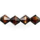 Swarovski Crystal Beads 6mm bicone 5328 topaz blend transparent