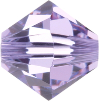 Image Swarovski Crystal Beads 6mm bicone 5328 violet (purple) transparent
