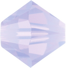 Swarovski Crystal Beads 6mm bicone (5301 and 5328) violet opal (purple) opalescent