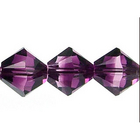 Swarovski Crystal Beads 8mm bicone (5301 and 5328) amethyst blend transparent