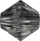Swarovski Crystal Beads 8mm bicone (5301 and 5328) crystal silver night transparent with finish