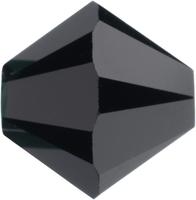 Swarovski Crystal Beads 8mm bicone (5301 and 5328) jet (black) opaque