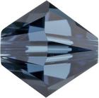 Swarovski Crystal Beads 8mm bicone 5328 montana (greyish blue) transparent