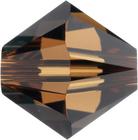 Swarovski Crystal Beads 8mm bicone 5328 smoked topaz (dark brown) transparent