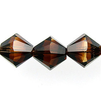 Swarovski Crystal Beads 8mm bicone 5328 topaz blend transparent