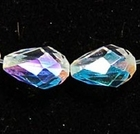 Swarovski Crystal Beads 18 x 12mm teardrop (5500) crystal ab (clear) transparent iridescent