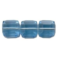 Swarovski Crystal Beads 4mm cube (5601) aquamarine (aqua blue) transparent