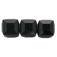 Swarovski Crystal Beads 4mm cube (5601) jet (black) opaque