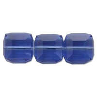 Swarovski Crystal Beads 4mm cube (5601) sapphire (blue) transparent