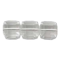 Swarovski Crystal Beads 6mm cube (5601) crystal (clear) transparent