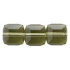 Image Swarovski Swarovski Closeouts 6mm cube (5601) khaki (green) transparent