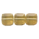 Swarovski Crystal Beads 6mm cube (5601) light colorado topaz (light brown) transparent