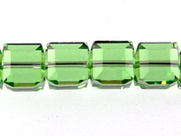 Swarovski Crystal Beads 6mm cube (5601) peridot (light green) transparent