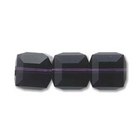 Swarovski Crystal Beads 6mm cube (5601) purple velvet (dark royal purple) transparent
