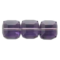 Swarovski Crystal Beads 6mm cube (5601) tanzanite (blueish purple) transparent