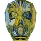Swarovski Crystal Beads 13mm skull (5750) crystal iridescent green transparent with finish