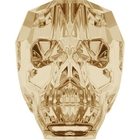 Swarovski Crystal Beads 13mm skull (5750) crystal golden shadow transparent with finish