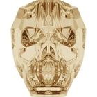 Swarovski Crystal Beads 19mm skull (5750) crystal golden shadow transparent with finish