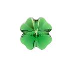 Swarovski Crystal Beads 12mm clover (5752) dark moss green transparent