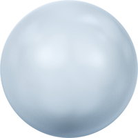 Image Swarovski Pearl Beads 4mm round pearl (5810) iridescent light blue pearlescent