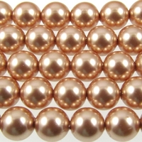 Image Swarovski Pearl Beads 6mm round pearl (5810) rose gold pearlescent