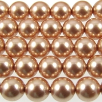 Swarovski Pearl Beads 8mm round pearl (5810) rose gold pearlescent