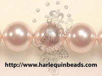 Swarovski Pearl Beads 8mm round pearl (5810) rosaline (pale pink) pearlescent