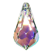 Swarovski Pendants 11 x 5mm teardrop pendant (6000) crystal ab (clear)