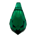 Swarovski Pendants 11 x 5mm teardrop pendant (6000) emerald (dark green)