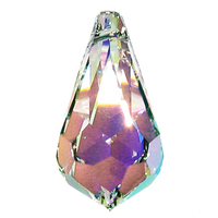 Swarovski Pendants 28 x 14mm teardrop pendant (6000) crystal ab (clear)