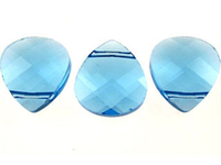 Swarovski Pendants 11 x 10mm flat briolette (6012) aquamarine (aqua blue)