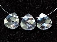 Swarovski Pendants 11 x 10mm flat briolette (6012) crystal (clear)