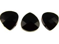 Swarovski Pendants 11 x 10mm flat briolette (6012) jet (black)