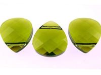 Swarovski Pendants 11 x 10mm flat briolette (6012) olivine (olive green)