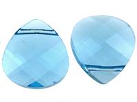 Swarovski Pendants 15 x 14mm flat briolette (6012) aquamarine (aqua blue)