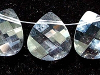 Swarovski Pendants 15 x 14mm flat briolette (6012) crystal (clear)