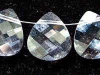 Swarovski Pendants 15 x 14mm flat briolette (6012) crystal (clear)