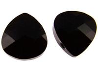 Swarovski Pendants 15 x 14mm flat briolette (6012) jet (black)
