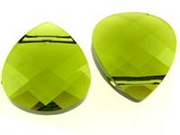 Swarovski Pendants 15 x 14mm flat briolette (6012) olivine (olive green)