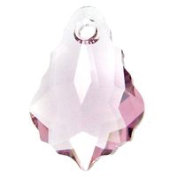 Swarovski Pendants 16 x 11mm baroque pendant (6090) light amethyst (light purple)