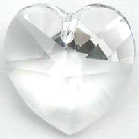 Image Swarovski Pendants 10mm heart (6228) crystal (clear)