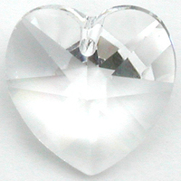 Swarovski Pendants 14mm heart (6228) crystal (clear)